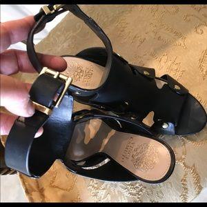 Vince Camuto Shoes - Vince Camuto Black Leather Sandals